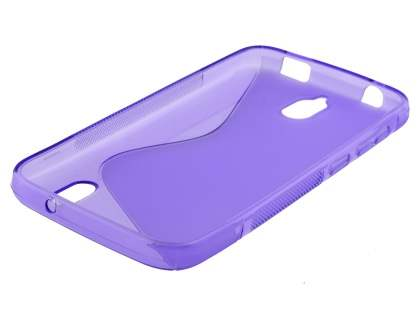Wave Case for Huawei Y625 - Frosted Purple/Purple