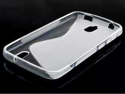 Huawei Y625 Wave Case - Frosted Clear/Clear