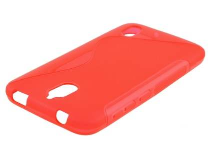 Wave Case for Huawei Y625 - Frosted Red/Red Soft Cover