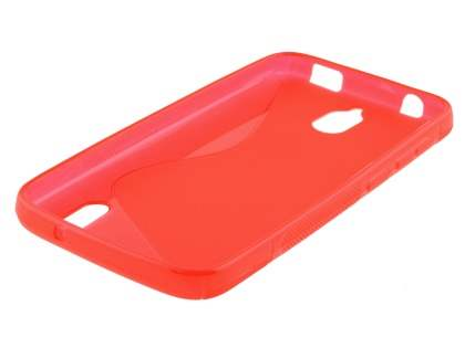 Huawei Y625 Wave Case - Frosted Red/Red