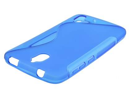 Wave Case for Huawei Y625 - Frosted Blue/Blue Soft Cover