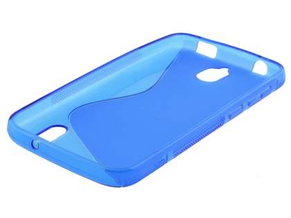 Wave Case for Huawei Y625 - Frosted Blue/Blue