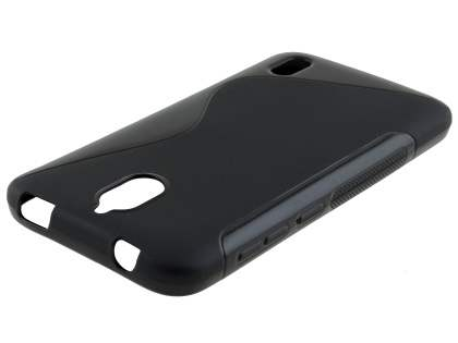 Wave Case for Huawei Y625 - Frosted Black/Black Soft Cover