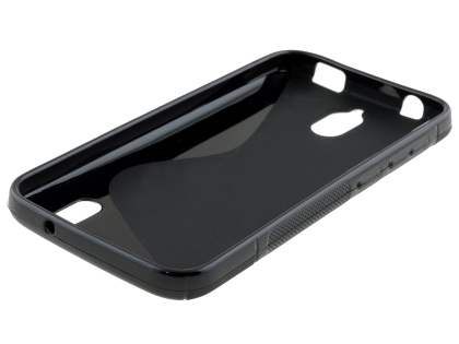 Huawei Y625 Wave Case - Frosted Black/Black