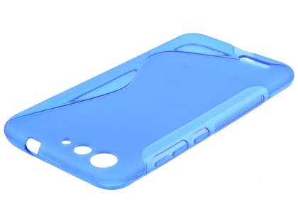 Wave Case for ZTE Blade V6 - Frosted Blue/Blue Soft Cover