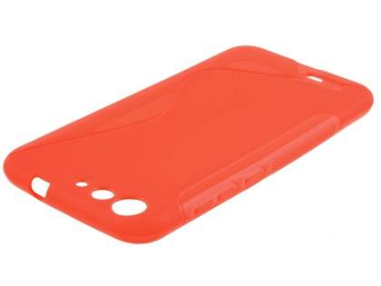ZTE Blade V6 Wave Case - Frosted Red/Red