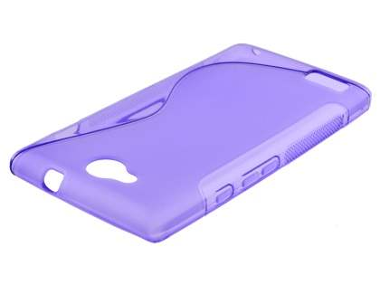 ZTE BLADE G LUX DUAL SIM Wave Case - Frosted Purple/Purple