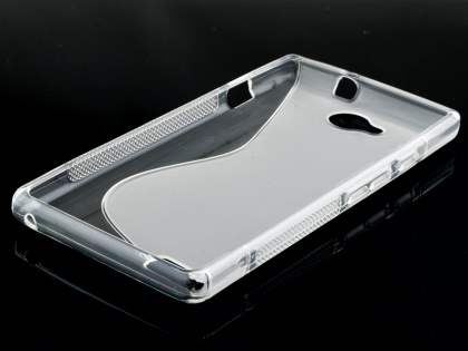 Wave Case for ZTE BLADE G LUX DUAL SIM - Frosted Clear/Clear