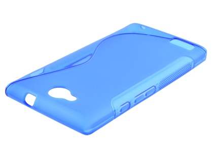 Wave Case for ZTE BLADE G LUX DUAL SIM - Frosted Blue/Blue Soft Cover