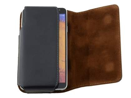 Extra-tough Genuine Leather ShineColours belt pouch for Microsoft Lumia 950 XL
