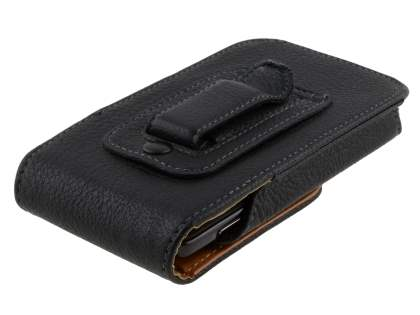Textured Synthetic Leather Vertical Belt Pouch (Bumper Case Compatible) for Samsung Galaxy S4 mini
