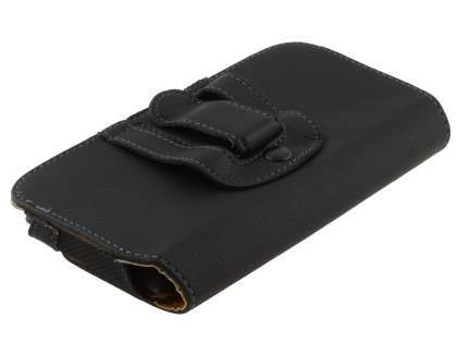 Synthetic Leather Belt Pouch for Sony Xperia Z - Classic Black