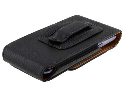 Textured Synthetic Leather Vertical Belt Pouch for HTC Desire 300