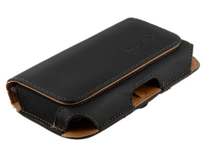 HTC Desire 300 Synthetic Leather Belt Pouch (Bumper Case Compatible)