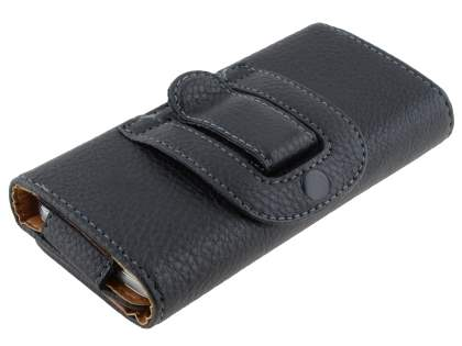 ZTE Telstra Easy Touch 4G Synthetic Leather Belt Pouch - Classic Black
