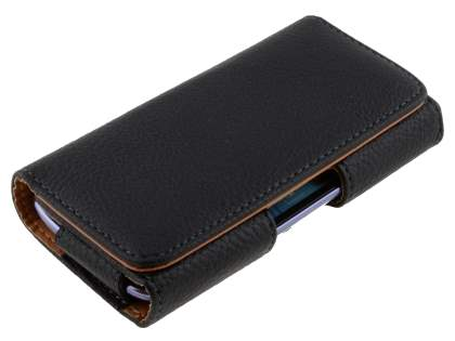 Textured Synthetic Leather Belt Pouch (Bumper Case Compatible) for Huawei Ascend G510