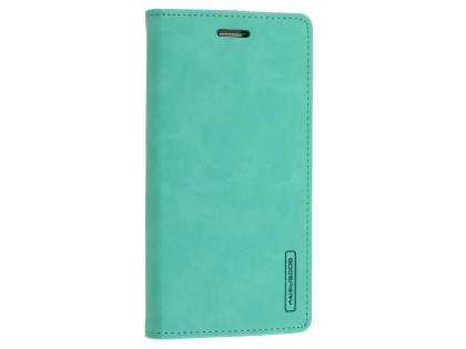 Mercury Blue Moon Wallet Case for Samsung Galaxy S7 - Mint Leather Wallet Case
