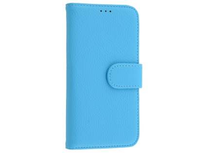 Synthetic Leather Wallet Case with Stand for Samsung Galaxy S7 - Sky Blue