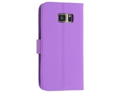 Synthetic Leather Wallet Case with Stand for Samsung Galaxy S7 - Purple
