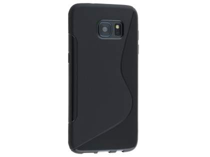 Wave Case for Samsung Galaxy S7 edge - Frosted Black/Black