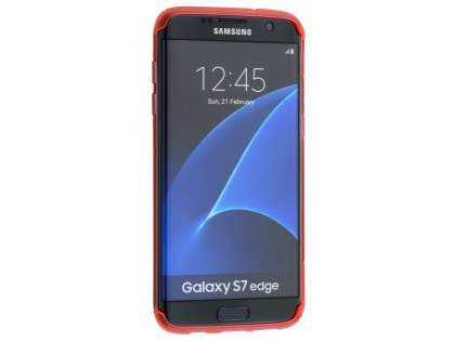 Wave Case for Samsung Galaxy S7 edge - Frosted Red/Red