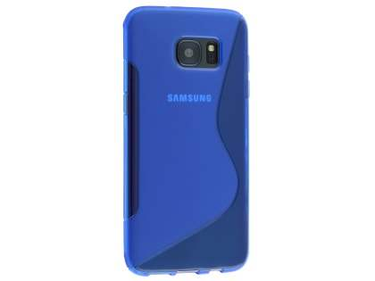 Wave Case for Samsung Galaxy S7 edge - Frosted Blue/Blue Soft Cover