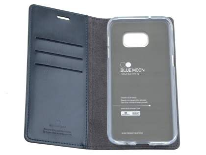 Mercury Blue Moon Wallet Case for Samsung Galaxy S7 edge - Navy