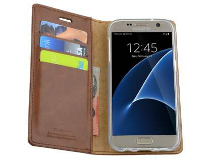 Mercury Blue Moon Wallet Case for Samsung Galaxy S7 - Brown