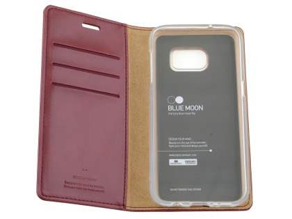 Mercury Goospery Blue Moon Wallet Case for Samsung Galaxy S7 edge - Burgundy