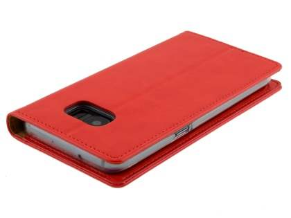 Mercury Blue Moon Wallet Case for Samsung Galaxy S7 edge - Red