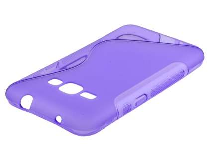 Wave Case for Samsung Galaxy J1 (2016) - Frosted Purple/Purple