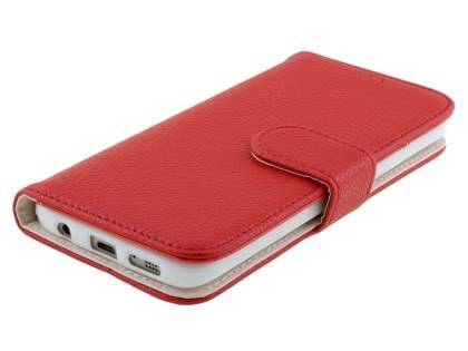 Synthetic Leather Wallet Case with Stand for Samsung Galaxy S7 - Red