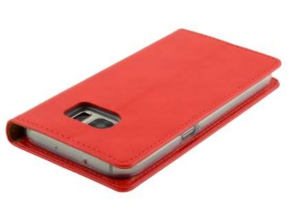 Mercury Blue Moon Wallet Case for Samsung Galaxy S7 - Red