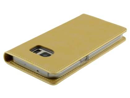 Mercury Blue Moon Wallet Case for Samsung Galaxy S7 - Gold