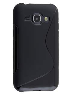 Wave Case for Samsung Galaxy J1 Ace - Frosted Black/Black Soft Cover