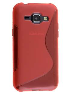 Wave Case for Samsung Galaxy J1 Ace - Frosted Red/Red Soft Cover