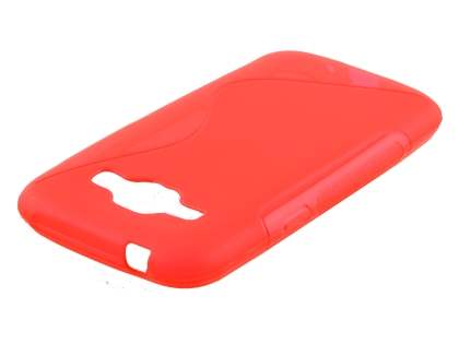 Wave Case for Samsung Galaxy J1 Ace - Frosted Red/Red