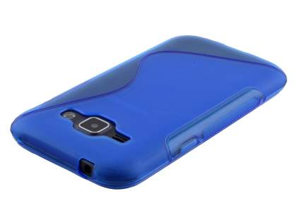 Wave Case for Samsung Galaxy J1 Ace - Frosted Blue/Blue