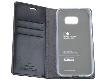 Mercury Blue Moon Wallet Case for Samsung Galaxy S7 edge - Classic Black
