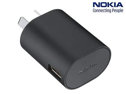 Genuine Nokia AC-50A Fast Charger with Removable Micro USB Cable - Classic Black