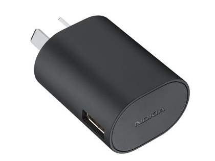 Genuine Nokia AC-50A Fast Charger Adapter with USB Port - Classic Black AC Wall Charger