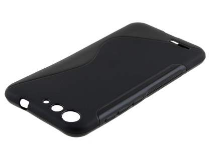 Wave Case for ZTE Blade V6 - Frosted Black/Black Soft Cover