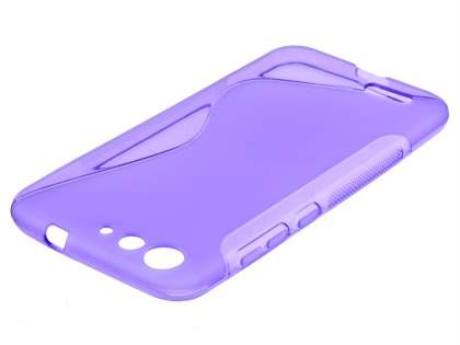 Wave Case for ZTE Blade V6 - Frosted Purple/Purple Soft Cover