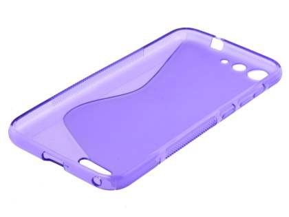 Wave Case for ZTE Blade V6 - Frosted Purple/Purple