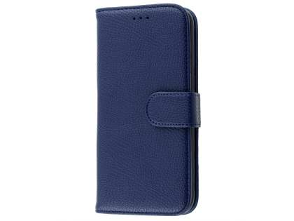 Synthetic Leather Wallet Case with Stand for Samsung Galaxy S7 edge - Dark Blue
