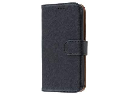 Synthetic Leather Wallet Case with Stand for Samsung Galaxy S7 edge - Classic Black