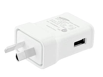 Genuine Samsung 2A/10W AC Charger & Tab USB Cable - White