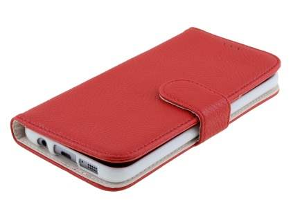 Synthetic Leather Wallet Case with Stand for Samsung Galaxy S7 edge - Red