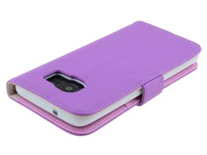 Synthetic Leather Wallet Case with Stand for Samsung Galaxy S7 edge - Purple