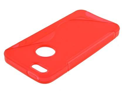 Wave Case for iPhone SE/5s/5 - Frosted Red/Red
